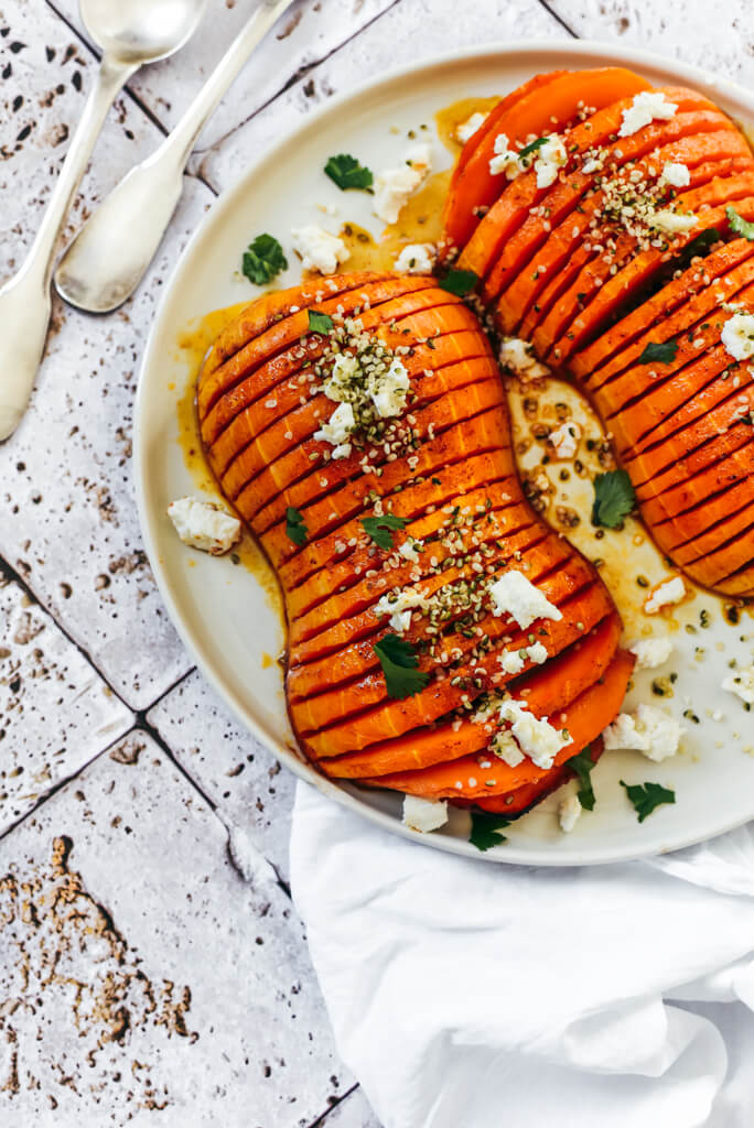 Courge butternut hasselback