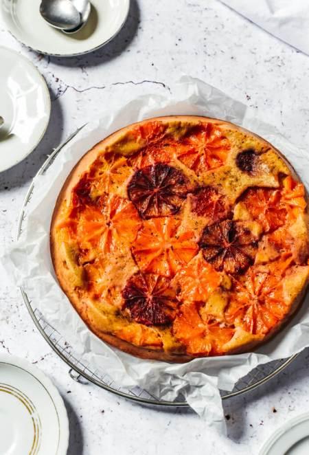 Gâteau tatin aux oranges sanguines