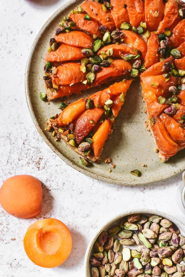 Dessert aux abricots