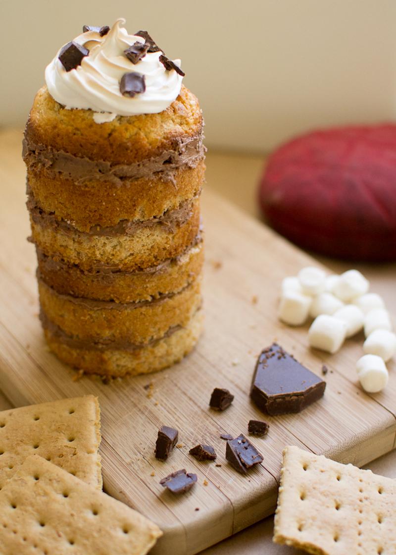 mini s'mores cake