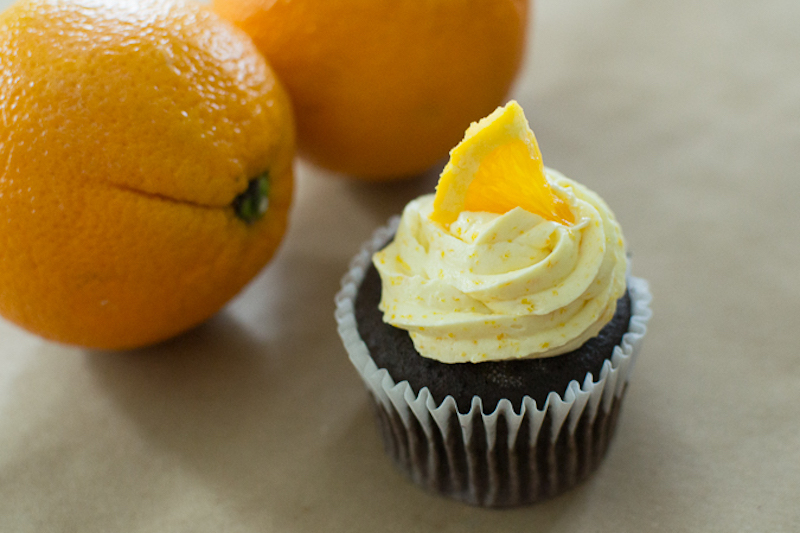 orange buttercream frosting