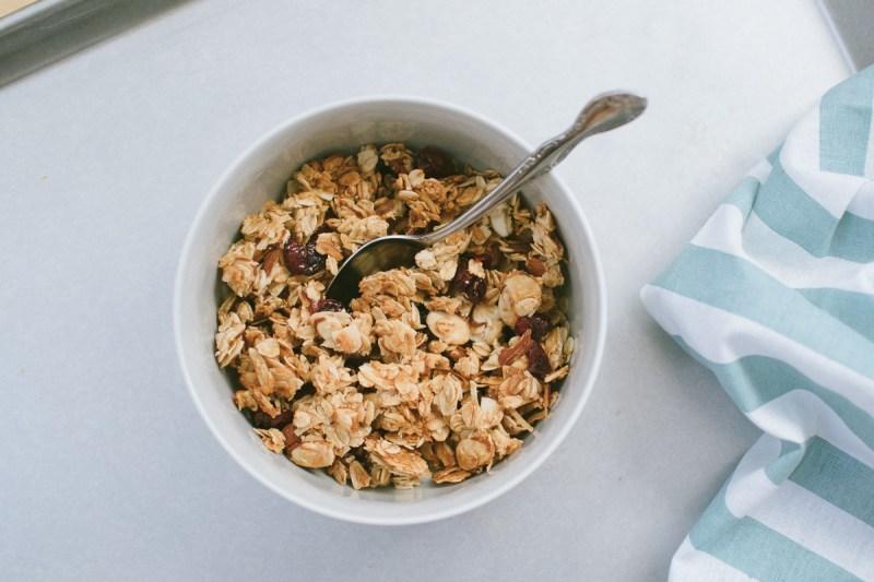 chunky cranberry coconut granola
