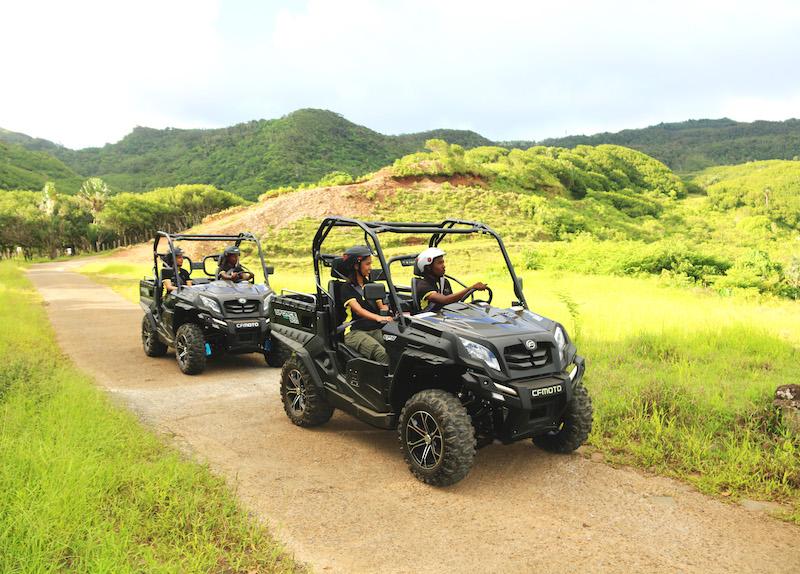 Buggy riding at la Vallée des Couleurs in Mauritius