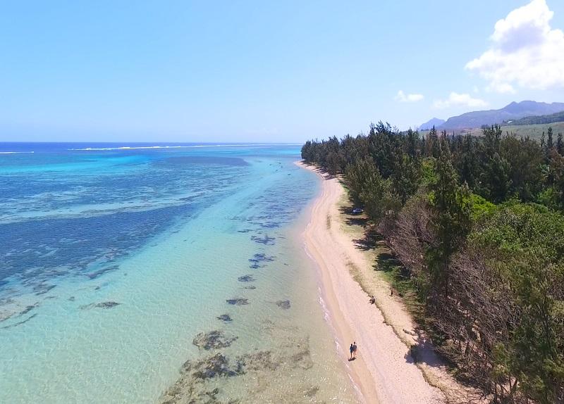 Bel Ombre beach in Mauritius