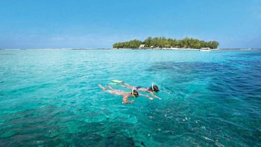 Ile des deux cocos in Mauritius. Tours available daily. Blue bay marine park. Lux resort