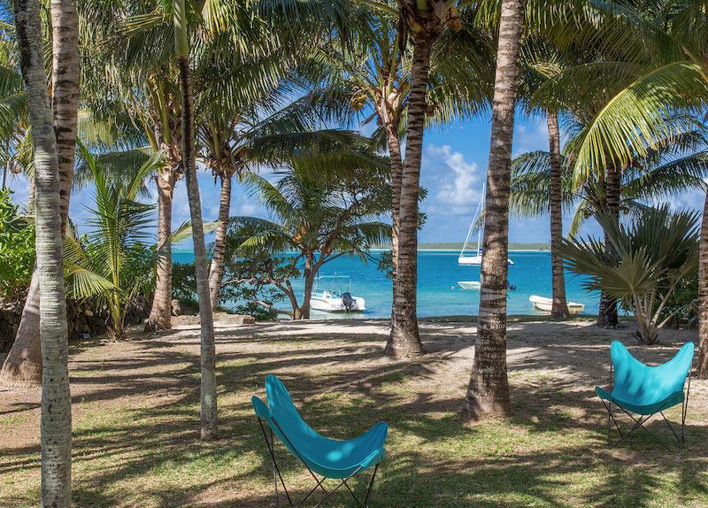 Villa Tourteaux in Mauritius view on the lagoon