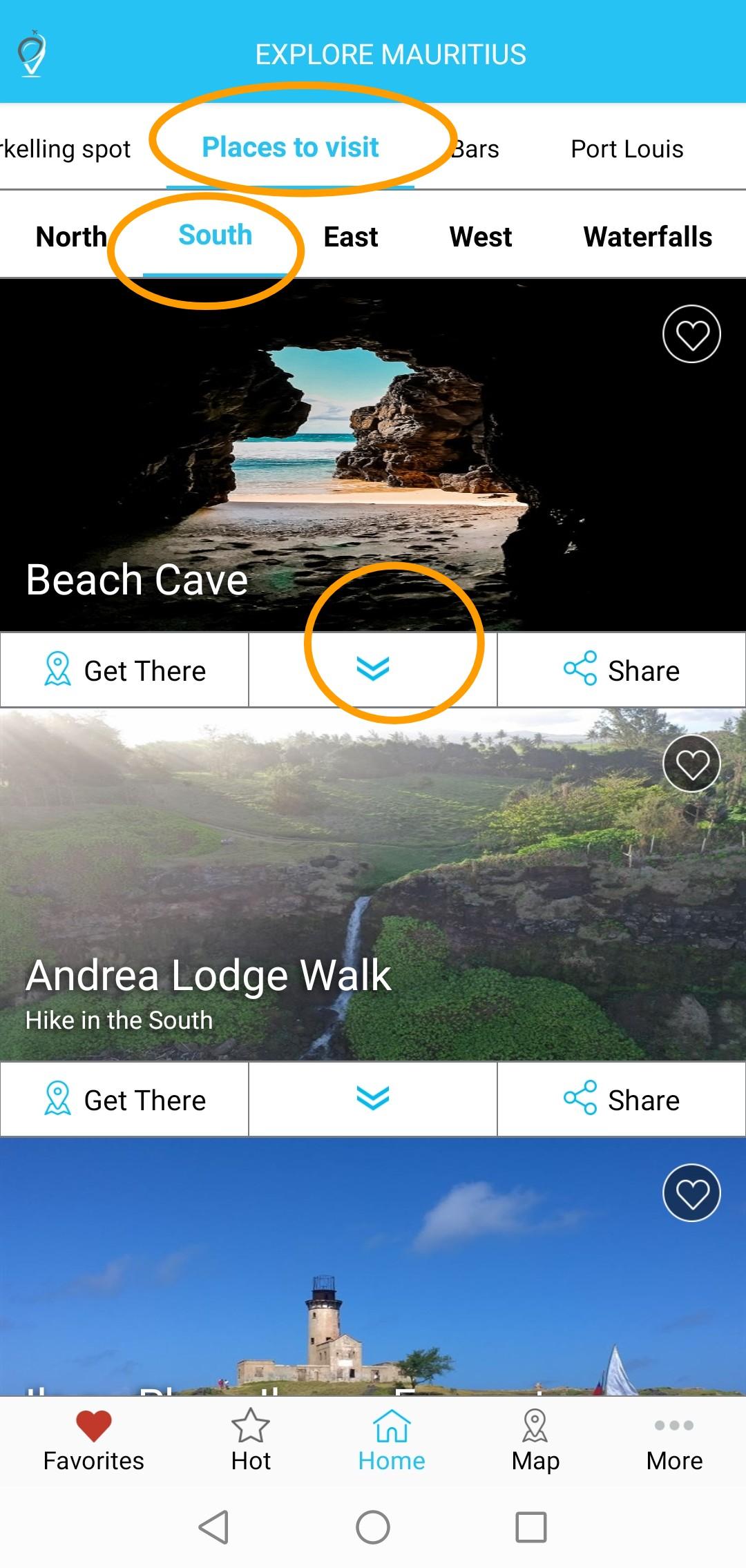 Beach cave location