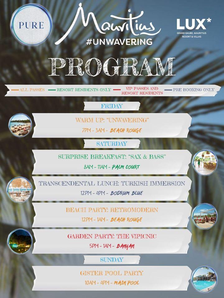 Pure Event program