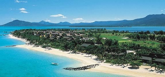 Coastal view of Mauritius