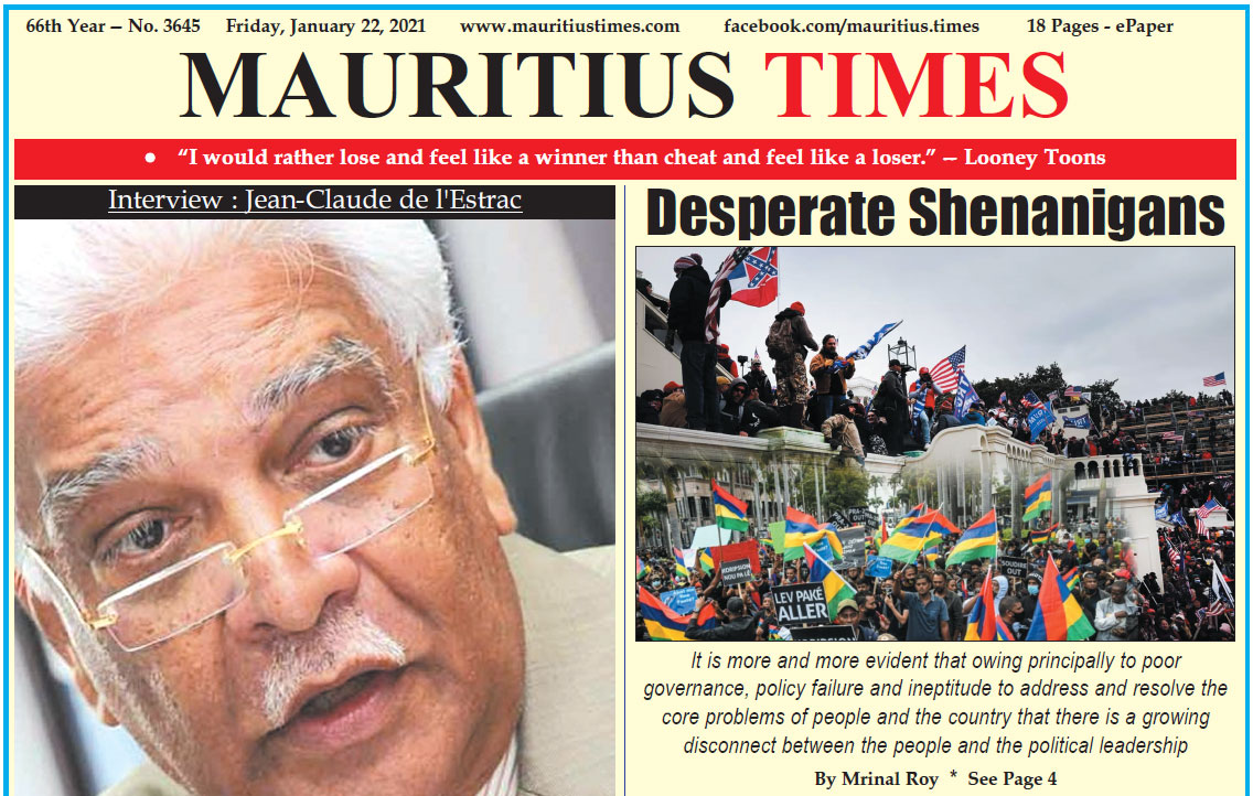 Free download — Mauritius Times ePaper – Friday 22 January 2021