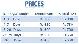 scooter prices in Mauritius