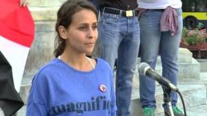 Belgrado, la giovane siriana