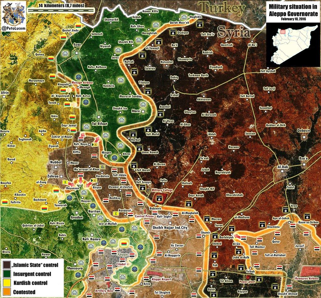 FOTO 3-Aleppo liberation map-10 febbraio 2016