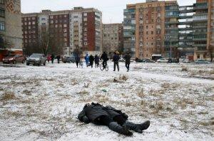 Recente bombardamento di Kiev a Kamatorrsk