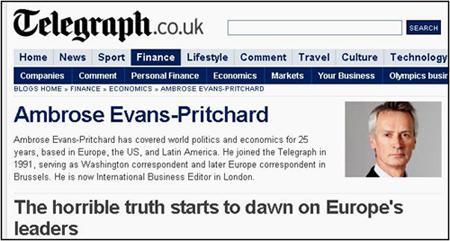 """Ambrose Evans-Pritchard: """"La UE non vi fa' uscire dalla crisi. Uscite dalla UE!"""""""