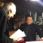 Marco Pannella con Silvio Berlusconi
