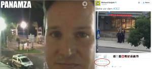 Lo stesso 'giornalista' che ha fatto il video a Nizza, era anche a Monaco. A filmare davanti al McDo