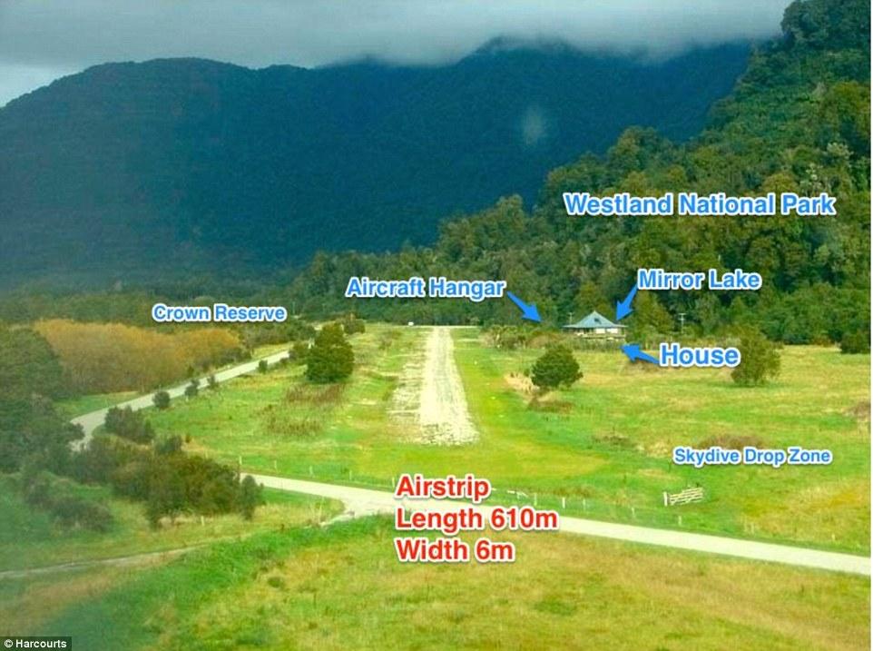 In vendita in Nuova Zelanda: pista d'atterraggio.
