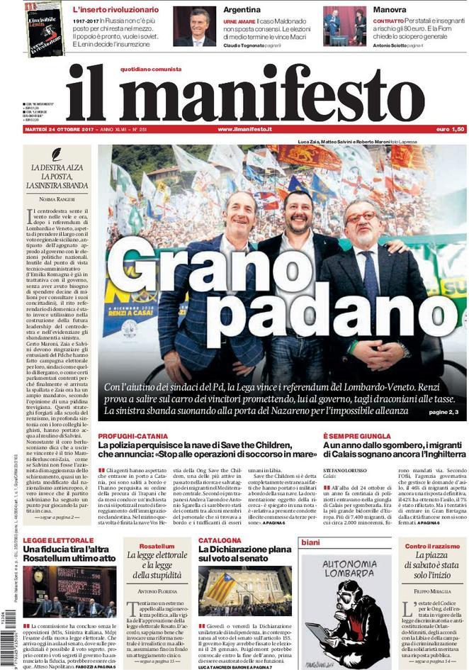 """Prima che """"comunista"""", romanesco. Vive di Grano Padano."""