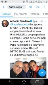 """MATRIMONIO AL VOLO DEL PAPA? UNA MEZZA """"FAKE NEWS"""", CUCINATA MALINO....PENTOLE E COPERCHI."""