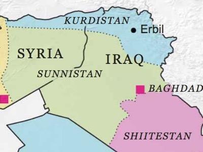 """Il """"Sunnistan"""" di Daesh progettato da Usrael."""