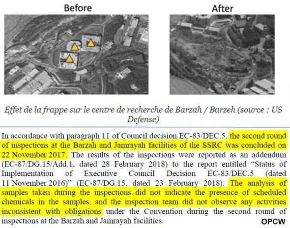 """La """"fabbrica clandestina"""" era regolarmente ispezionata dalll'OPCW"""