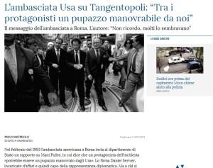 """Il vero motivo che portò a Tangentopoli, strumento per """"terminare"""" la Prima Repubblica Italiana"""