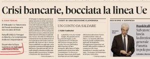 """L'errore di Bruxelles ha fatto fallire Banca Etruria, CariChieti, CariFerrara e Banca Marche. La Corte Ue: """"Decisione della Commissione su Tercas va annullata"""""""