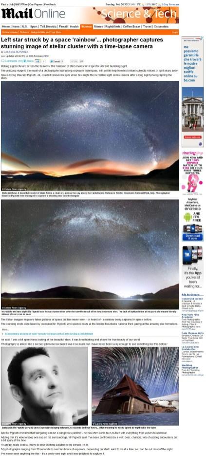Pubblicazione Daily Mailk Inghilterra