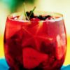 Caipirinha de frutas vermelhas Barman: Alfredo Martins Totò Ristorante