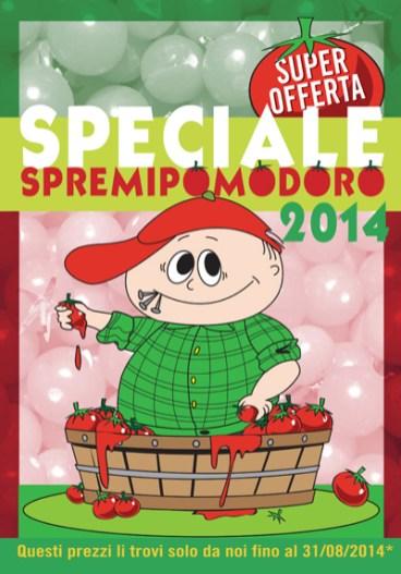 """Copertina depliant """"Speciale spremipomodoro"""""""
