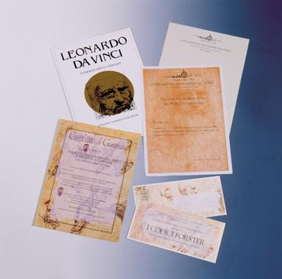 Materiale divulgativo I fac-simili di Leonardo