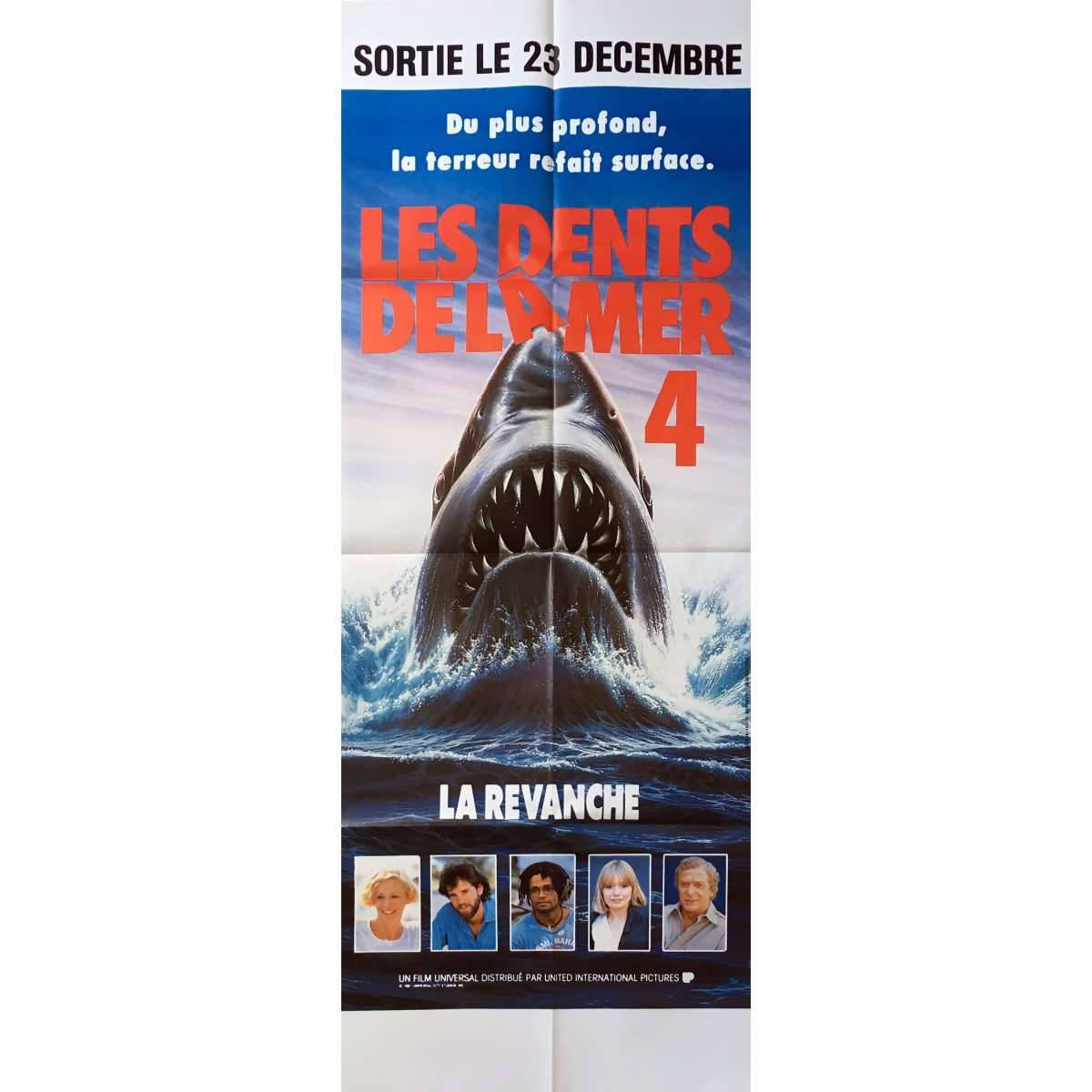jaws the revenge original movie poster 23x63 in 1987 joseph sargent lance guest