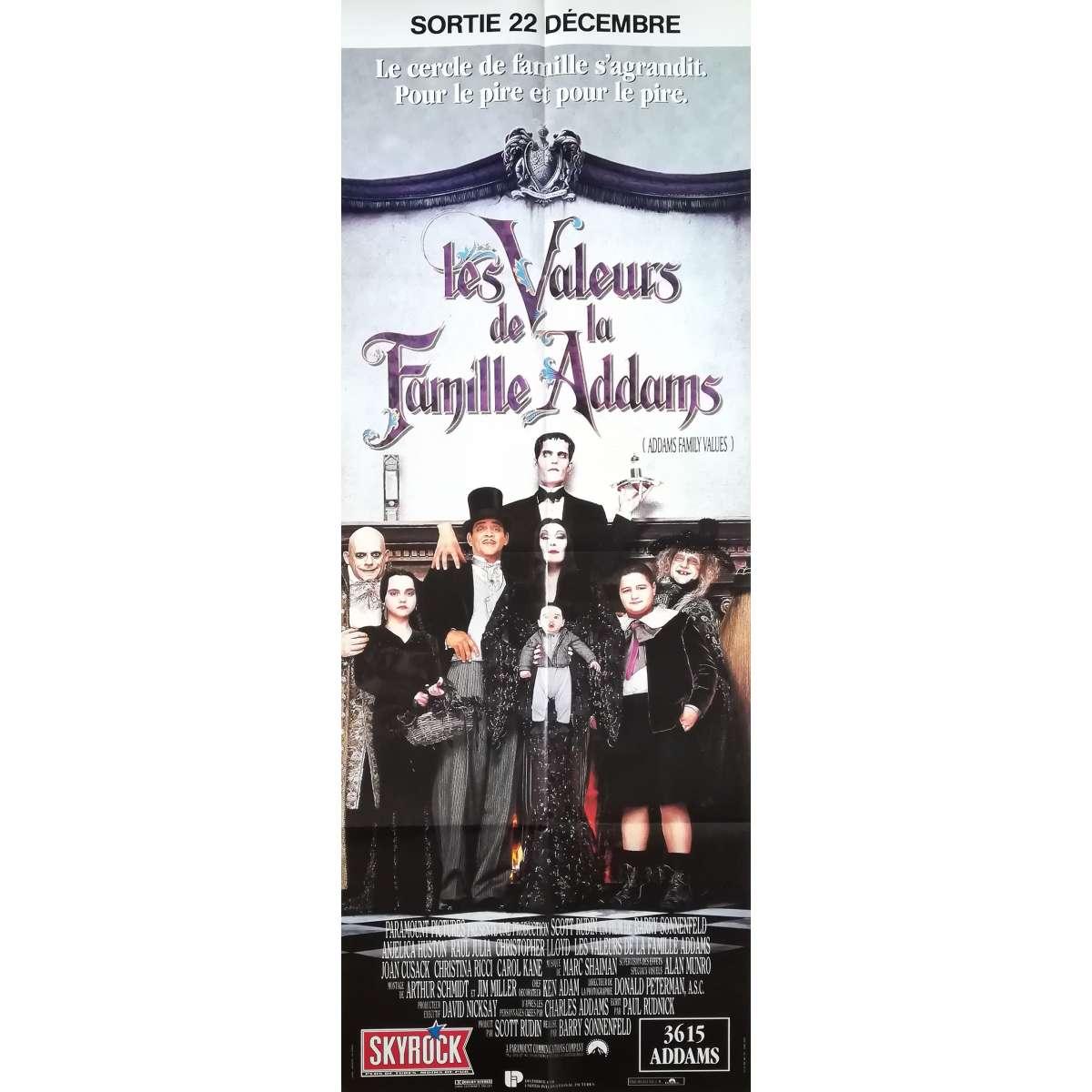 addams family values original movie poster 23x63 in 1991 barry sonnefeld christina ricci