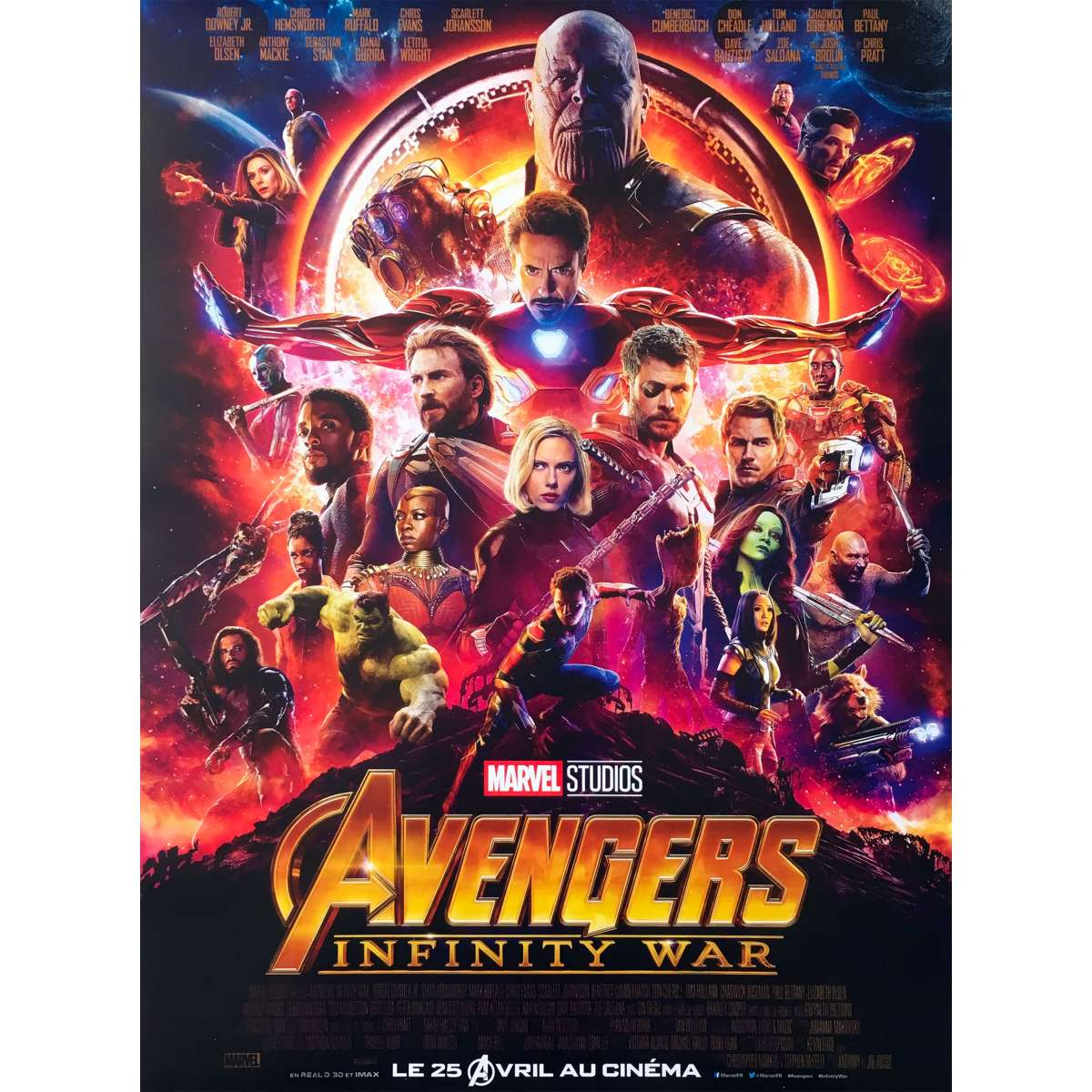 avengers infinity war original movie poster 15x21 in 2018 anthony russo robert downey jr