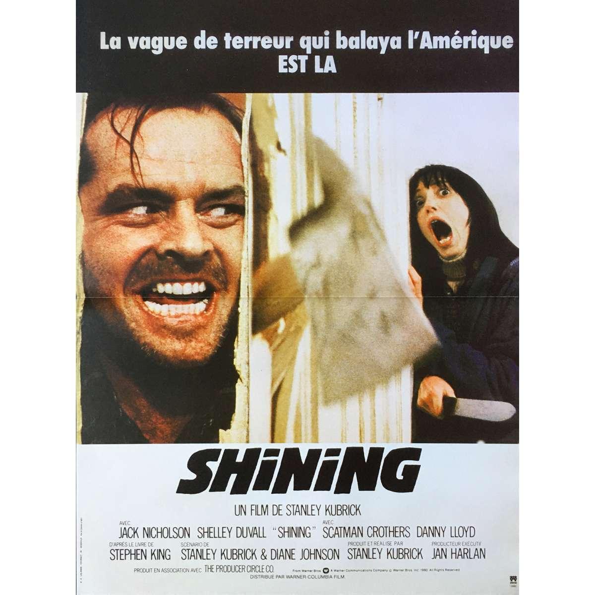 the shining original movie poster 15x21 in r1990 stanley kubrick jack nicholson