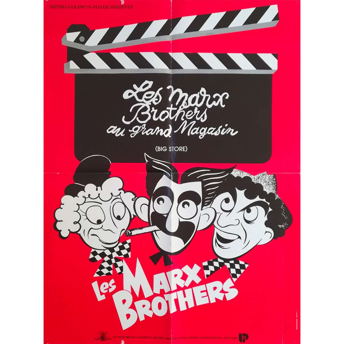 the big store original movie poster 23x32 in r1970 charles reisner the marx brothers