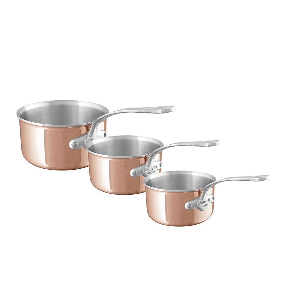 mauviel 3 casseroles 16 18 20 m 6s