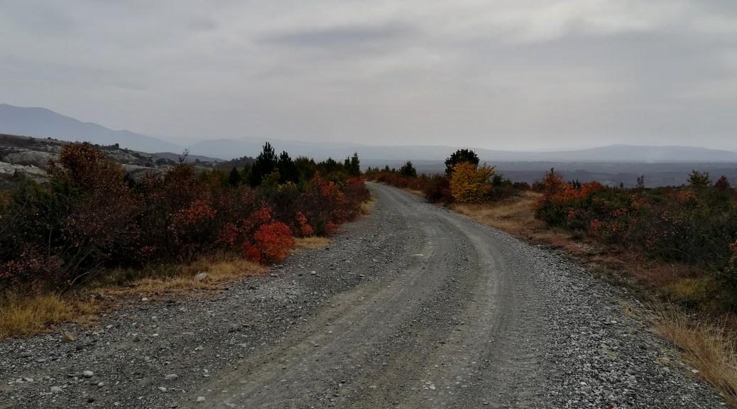 white road in Greece