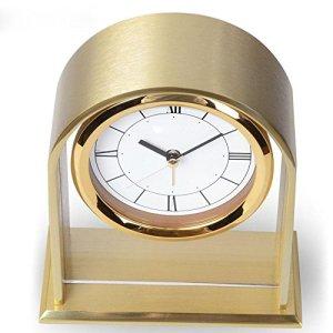 BBSLT Horloges de salon chambre bureau moderne en aluminium, métal radio-réveil, horloge de bureau
