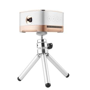 LISHUANG P07-D Mini projecteur à Del Bluetooth Home Cinéma Android de 50 lumens avec télécommande, Prise en Charge Micro SD & Micro USB & WiFi & Audio Projecteur