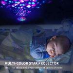Machine de sommeil avec bruit blanc, sucette pour bébé avec projecteur d'étoiles et veilleuse pour dormir, 20 sons naturels apaisants haute fidélité pour adultes, enfants, bureau, minuteur, UK