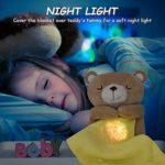 Veilleuse Bébé Musicale et Lumineuse, Housoly Peluche Projecteur pour dormir lampe de projection enfants avec 15 Musiques Nouveau Cadeau pour Bebe