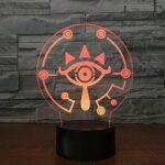 3D Illusion Nuit Lumière Led Lampe De Table Bureau Logo Du Jeu Veilleuse 16 Couleur Tactile Optique Illusion Lampe Pour Enfants Chambre Décoration Noël Cadeau D'Anniversaire