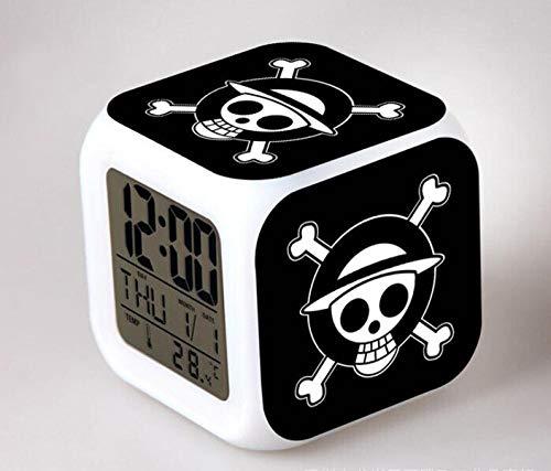Cadeaux de Noël pour enfants , Réveil numérique à LED , Réveil coloré de dessin animé lumineux , Réveil jouet pour enfants , Veilleuse colorée