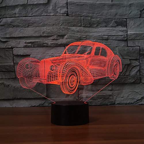 Cool modèle de voiture de sport LED 3D veilleuse 7 couleur changeante tactile 3D lampe de Table pour la décoration intérieure bébé sommeil éclairage livraison directe