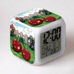 LED cadeau de noël pour enfants jouets pour enfants réveil réveil veilleuse fonction colorée affichages numériques figurines accessoire brillant