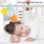 Luoji Tétine pour bébé – Avec veilleuse et projecteur de musique – Machine sonore pour bébé – Peluche – Pour garçon et fille – Cadeau de douche