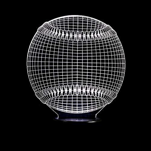Nouveau Baseball 3D Lumière Sportive Éclairage 7 Couleur Changeante Led Veilleuse Tactile Bureau Lampe De Table Enfant Enfants Jouets Garçon Décor Cadeau Unique
