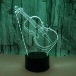 Nouvelle Guitare 3D Lumière Colorée Interrupteur Tactile Led Veilleuse Luminaria De Mesa 3D Luminaires Enfants Lampe